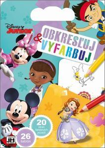 Obrázok Obkresľuj a vyfarbuj Disney Junior