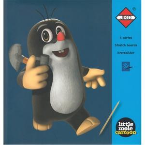 Obrázok Škrábací obrázky Panda a Little Mole - modré