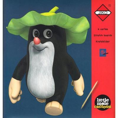 Obrázok Škrabací obrázky Panda a Little Mole - červené