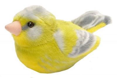 Obrázok Hrající plyšový ptáček - Zvonek zelený