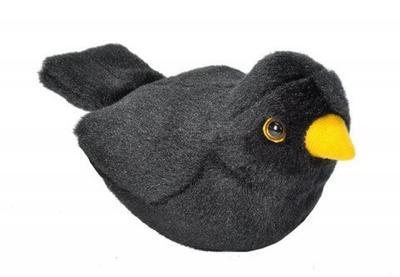 Hrající plyšový ptáček - Kos