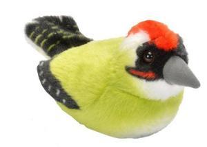 Obrázok Hrající plyšový ptáček - Žluna zelená