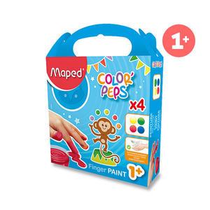 Obrázok Prstové barvy Maped 80g 4barvy