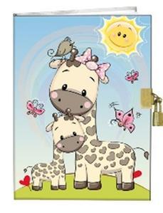Obrázok Památník A5 13x18cm se zámkem Žirafky
