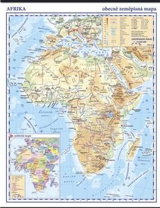 Obrázok Afrika fyzická nástěnná mapa