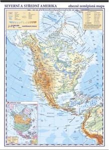 Obrázok Severní Amerika fyzická mapa