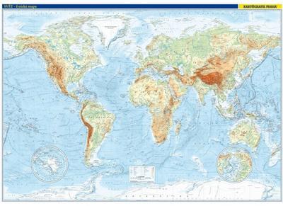 Obrázok Svět nástěnná fyzická mapa