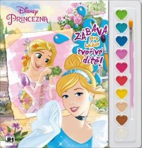 Obrázok Princezny omalovánka s vodovkami