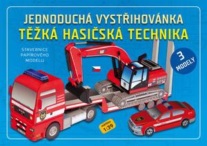 Obrázok Jednoduchá vystřihovánka Těžká hasičská technika