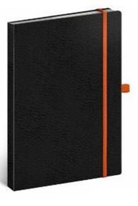 Obrázok Notes Vivella tečkovaný černý/oranžový