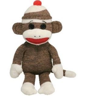 Plyšová opice s čepicí