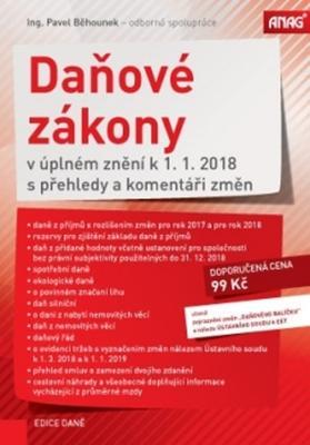 Obrázok Daňové zákony v úplném znění k 1. 1. 2018 s přehledy a komentáři změn