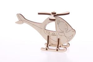 Obrázok 3D dřevěný model Helikoptéra