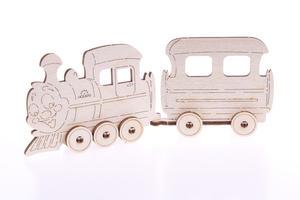 Obrázok 3D dřevěný model Lokomotiva
