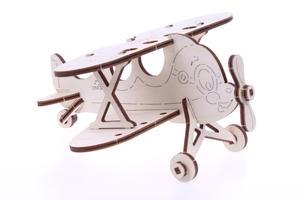 Obrázok 3D dřevěný model Dvojplošník