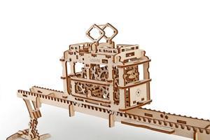 Obrázok Dřevěný mechanický model Tramvaj na kolejích
