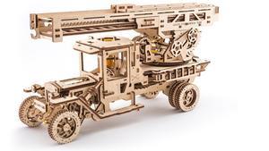 Obrázok Dřevěný mechanický model Požární auto