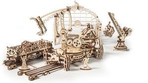 Obrázok Dřevěný mechanický model Kolejový jeřáb