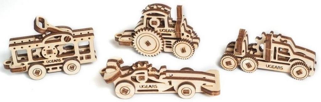 Dřevěný mechanický model Dopravní prostředky