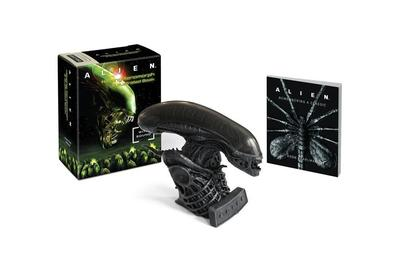 Alien: Hissing Xenomorph and Illustrated Book