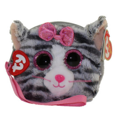 Obrázok Ty Gear peněženka Kiki šedá kočka 10 cm