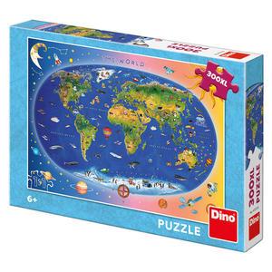 Puzzle Dětská mapa Svět XL 300 dílků
