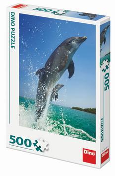Puzzle Skákající delfín 500 dílků