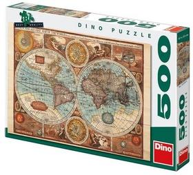 Puzzle Mapa Světa 47x33cm 500 dílků v krabici
