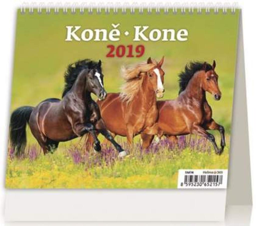 MiniMax Koně/Kone - stolní kalendář 2019