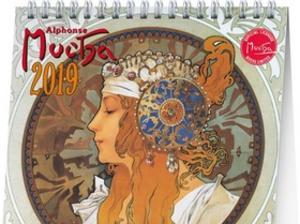 Obrázok Alfons Mucha 2019 - stolní kalendář