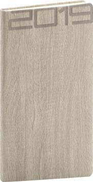 Kapesní diář Forest 2019, krémový, 9 x 1
