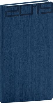 Kapesní diář Forest 2019, modrý, 9 x 15,