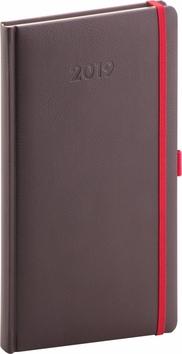 Kapesní diář Luzern 2019, hnědý, 9 x 15,