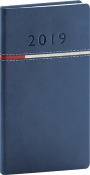 Kapesní diář Tomy 2019, modrý, 9 x 15,5