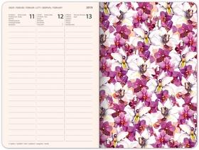 Týdenní diář Květiny 2019, 10,5 x 15,8 c