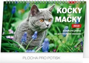 Obrázok Kočky – Mačky CZ/SK 2019- stolní kalendář 2019