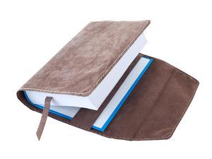 Obrázok Obal na knihu kožený se záložkou Hnědý (posuvný, rpzměrově variabilní)