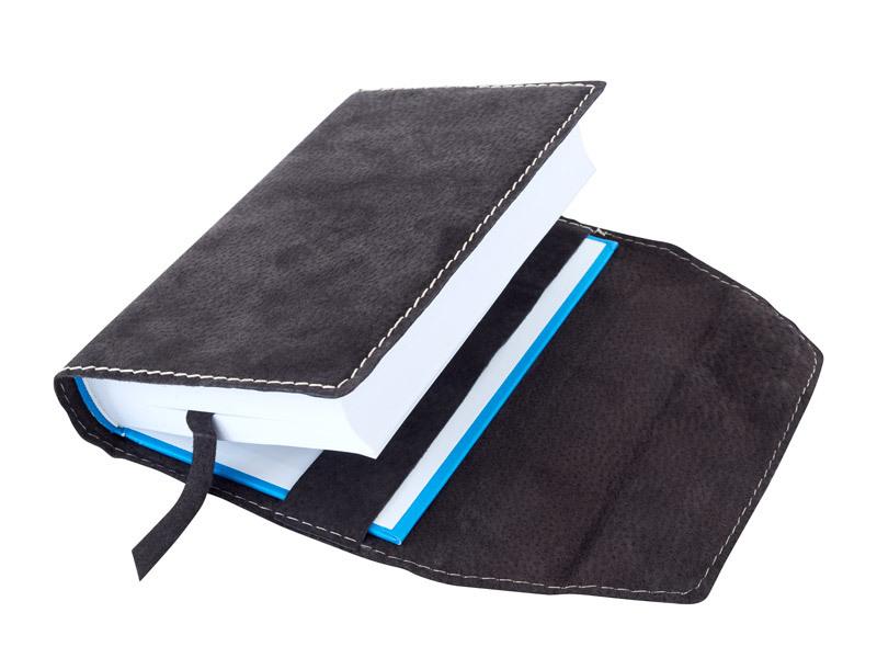 Obal na knihu kožený se záložkou Hnědý tmavý