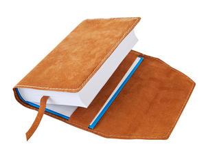 Obrázok Obal na knihu kožený se záložkou Medový