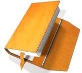 Obal na knihu kožený se záložkou Oranžový