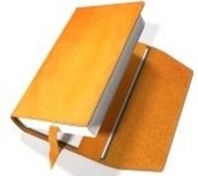 Obrázok Obal na knihu kožený se záložkou Oranžový