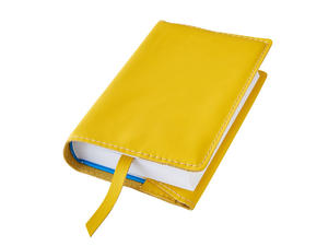 Obrázok Obal na knihu kožený se záložkou Žlutý