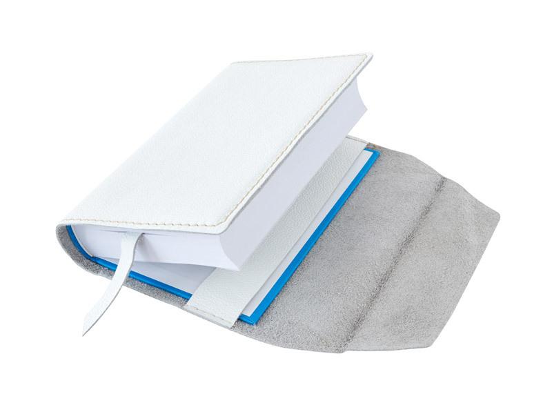 Obal na knihu kožený se záložkou Bílý
