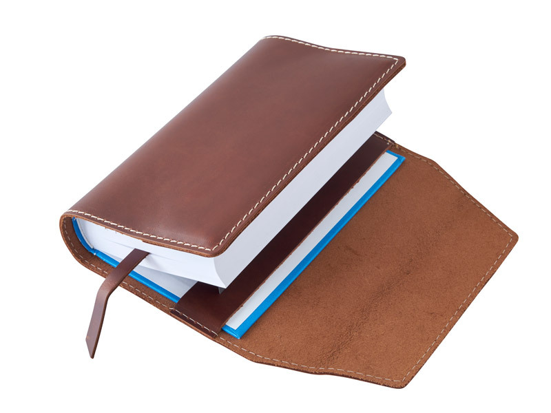Obal na knihu kožený se záložkou Choco