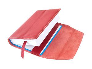Obrázok Obal na knihu kožený se záložkou Červená