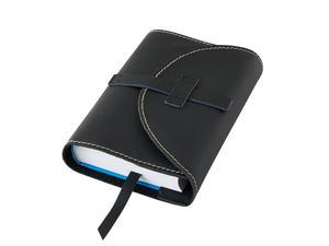 Obrázok Obal na knihu kožený se sponou Černý