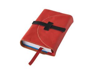 Obrázok Obal na knihu kožený se sponou Červený
