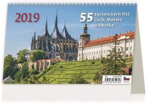 Obrázok 55 turistických nej Čech, Moravy a Slezka - stolní kalendář 2019