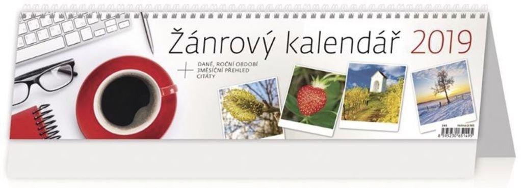 Žánrový kalendář - stolní kalendář 2019