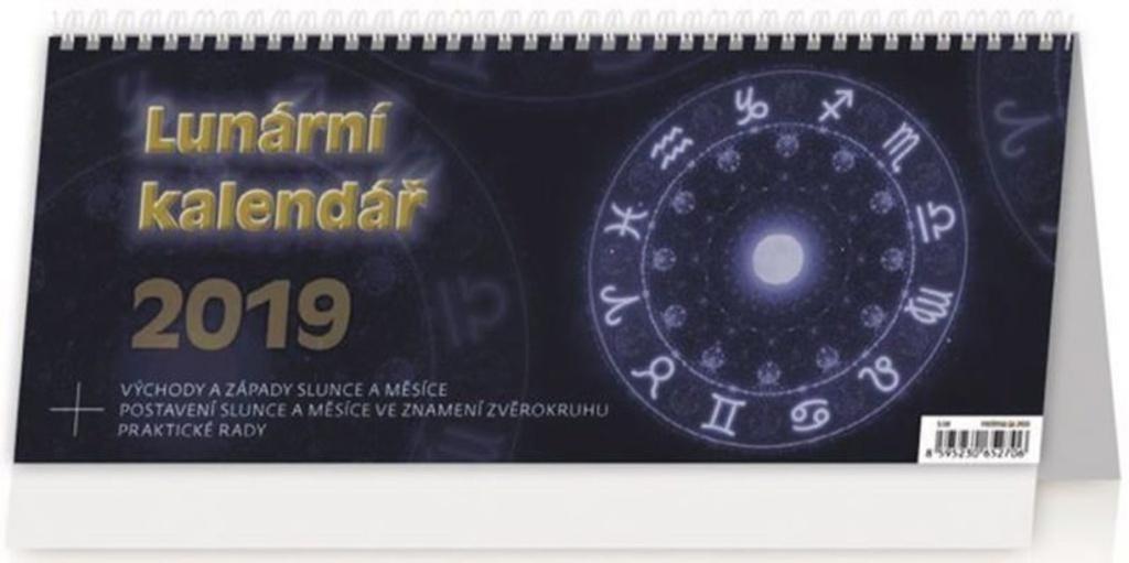 Lunární kalendář - stolní kalendář 2019